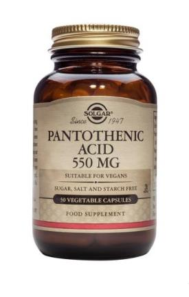 Pantothenic Acid 550mg Vcaps