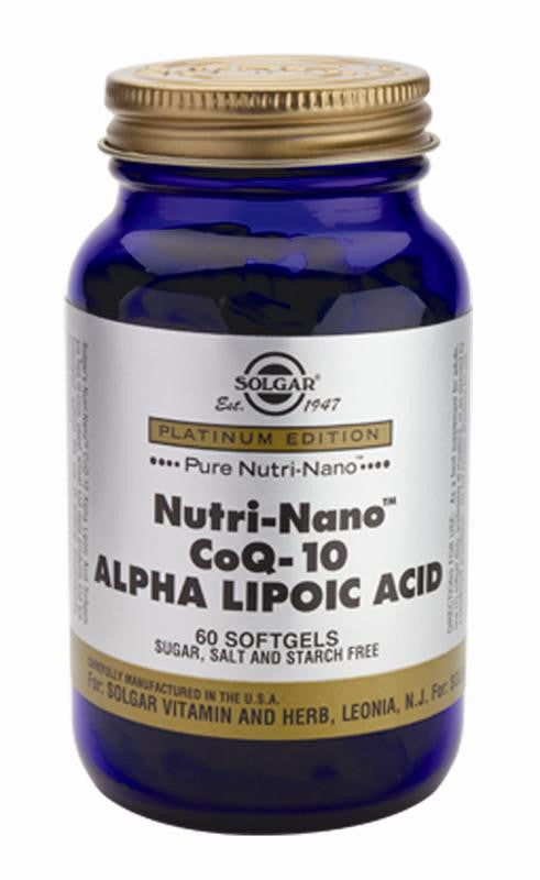 Nutri-Nano(TM) CoQ-10 Alpha Lipoic Acid Softgels