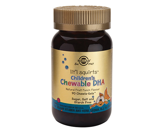 lit'l squirts™ Children's Chewable DHA Chewie-Gels™ Natural Fruit Punch Flavour