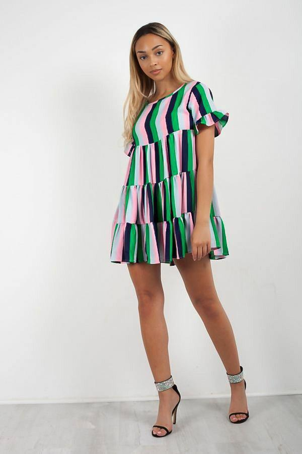 Multicoloured Swing Dress - IvyChic Boutique