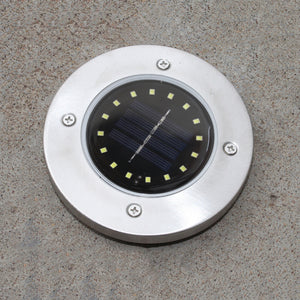 16 LED Solar Power Buried Light Under Ground Lamp for Outdoor Pathway - TOPRO Designs | Home Decor