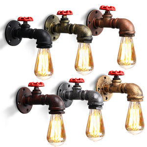 Industrial Water Pipes Wall Light - TOPRO Designs | Home Decor