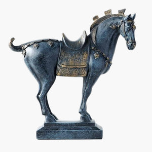 Luxury War Horse | Hand Painted Horse Statuette