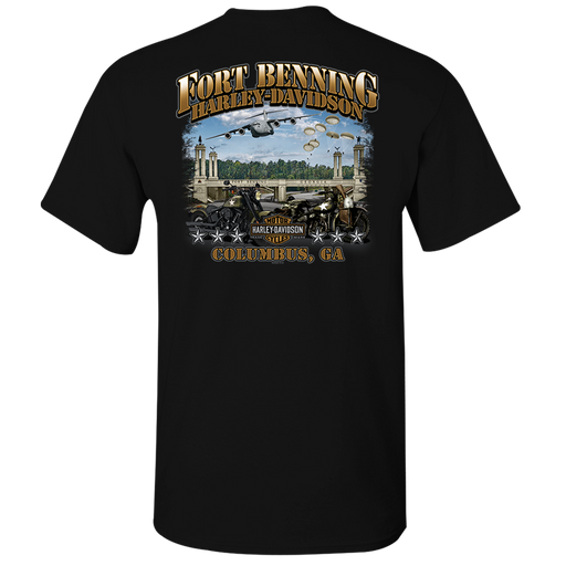 Fort Benning Bridge Men's Short Sleeve Shirt with Pocket