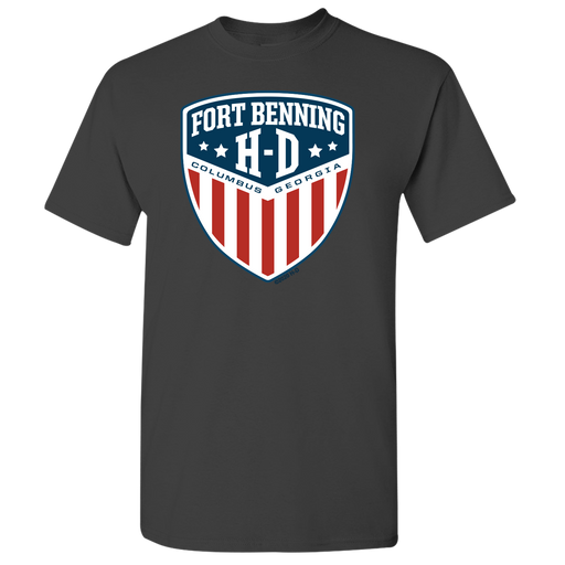 Fort Benning Shield Front Men's Short Sleeve Shirt