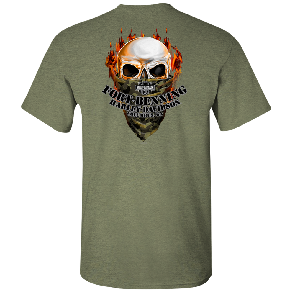 Skull Mask Men's Short Sleeve Shirt