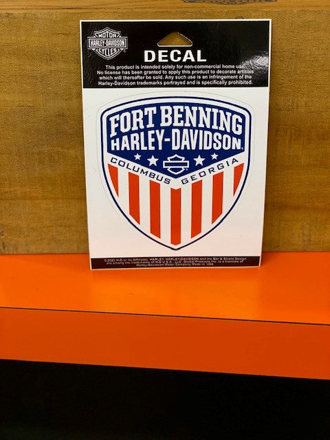 Fort Benning H-D Shield Decal