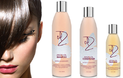 INTRODUCING TDZ PROFESSIONAL ARGAN OIL HAIR CARE SYSTEM, ONE OF OUR NEWEST AND MOST LUXURIOUS HAIR CARE LINES