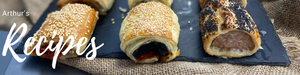 Homemade Vegetarian Sausage Roll - Confit Onion & Sun Dried Tomatoes
