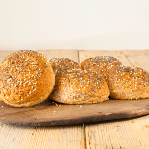 "Wholemeal Seeded Roll 3.5"" Hobbs"
