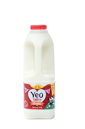 SKIMMED MILK (RED TOP) (ORGANIC) (1LTR)