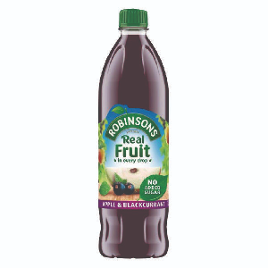 Apple & Blackcurrant Robinsons (1ltr)