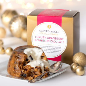 Cranberry & White Chocolate Christmas Pudding (454g)
