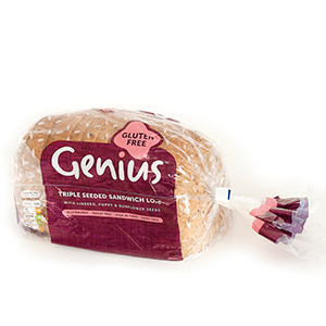 FROZEN MULTI SEEDED SLICED BREAD (GENIUS) (GLUTEN FREE) (EACH)
