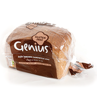 FROZEN BROWN SLICED BREAD (GENIUS) (GLUTEN FREE) (EACH)