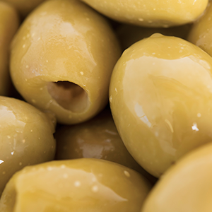 Pitted Green Olives (Plain) (1kg)