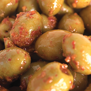 Spicy Pimento Green Olives (1kg)