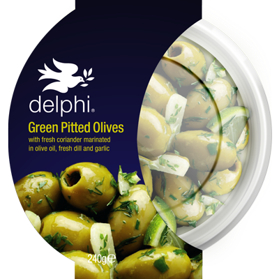 Green Pitted Olives Lemon & Herbs (240g)