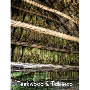 Teakwood Tobacco 4oz 3 Layer Jar Candle