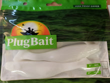 "Load image into Gallery viewer, PlugBait 6"" - 4 Count Mojo Shad white"