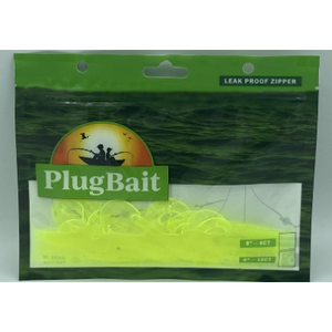 "PlugBait 4"" - 10 Count Translucent Chartreuse Bag"