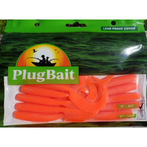 "PlugBait 6"" - 10 count Grubs bags Sea Robin"