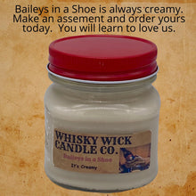 Load image into Gallery viewer, Old Gregg Candle Bundle.  Includes our Old Gregg Candle, Fuzzy Little Man Peach, and Baileys in a Shoe.  Available in your choice of two sizes