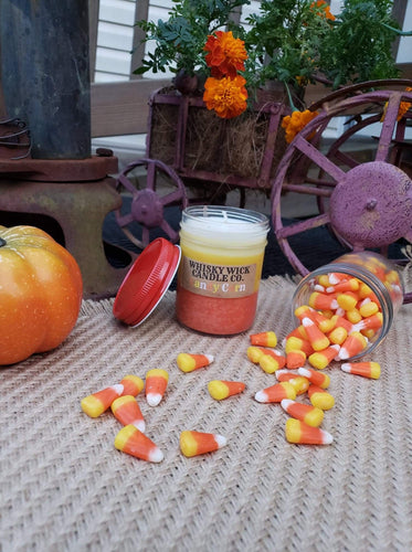 Candy Corn Halloween Candle and Tart