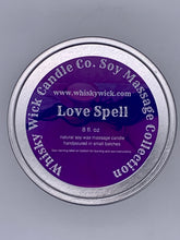 Load image into Gallery viewer, 8 oz. Soy Massage Candle Tin