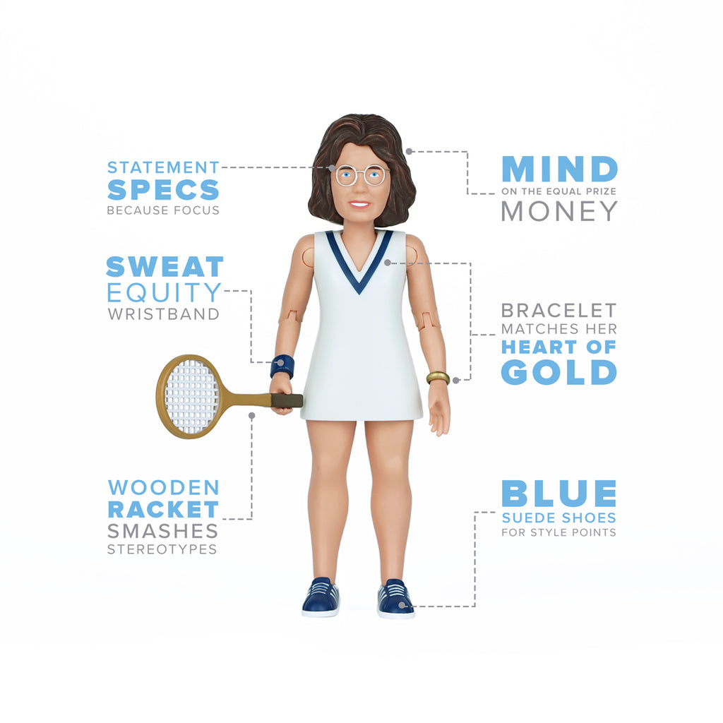 Billie Jean King Action Figure Infographic