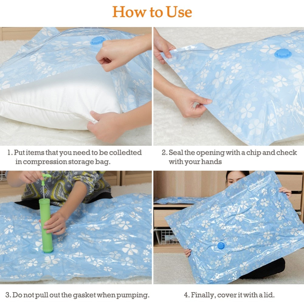 Storage Master Space Saver Bags, Vacuum Storage Bags for Travel & Home