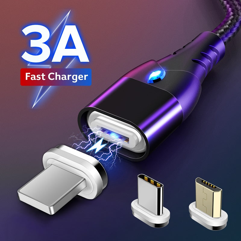 3-in-1 Magnetic Super Charging Cable 3A