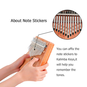 Kalimba 17 Keys Thumb Piano Builts-in EVA High-Performance Protective Box, Tuning Hammer and Study Instruction