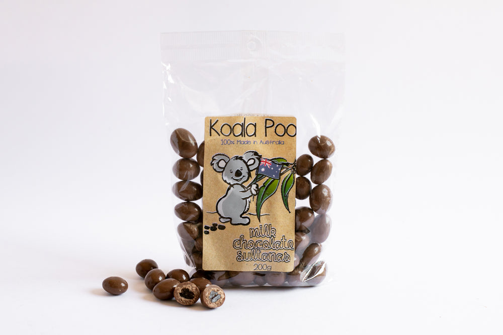 Koala Poo - Milk Chocolate Sultanas