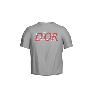 D'Or Logo Tee- White/Red Rhinestone