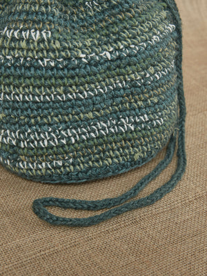 HAND CROCHET DRAWSTRING BAG