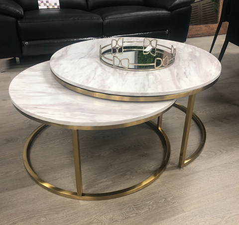 Mirabella Gold Coffee Table Set of 2