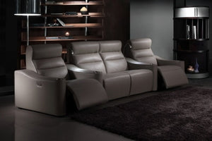 Home Theatre Leather Recliner Suite