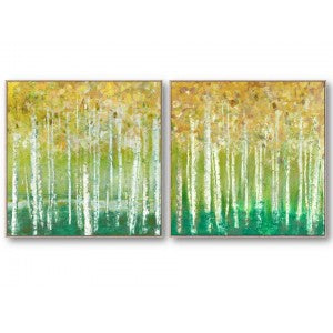 Abstract Forest Canvas set of 2