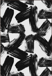 Black Brush Abstract Canvas