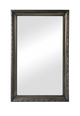 Charlotte Mirror Antique Silver