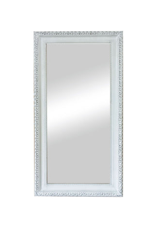 Charlotte Mirror Brushed White