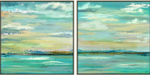 Green Landscape Set of 2 Canvas