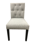 Upholstered Button Low Back Dining Chair