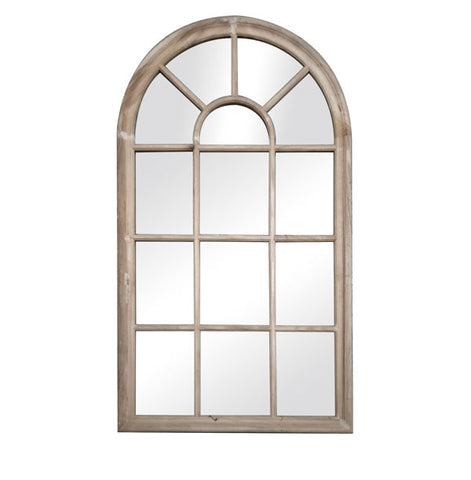 Arch Window Mirror Natural