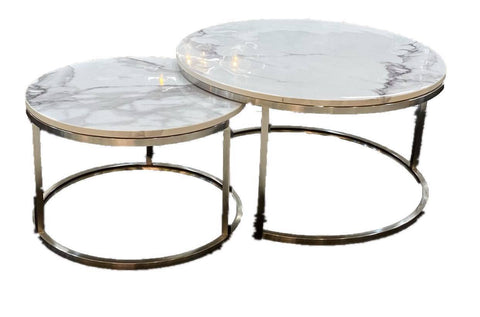 Mirabella Silver Coffee Table Set of 2