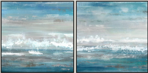 Ocean Sky Abstraction Set of 2