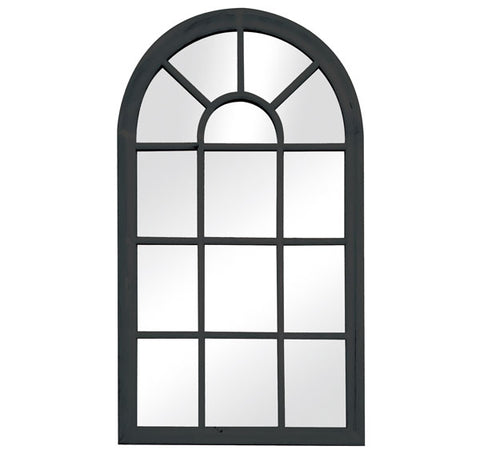 Arch Window Mirror Black