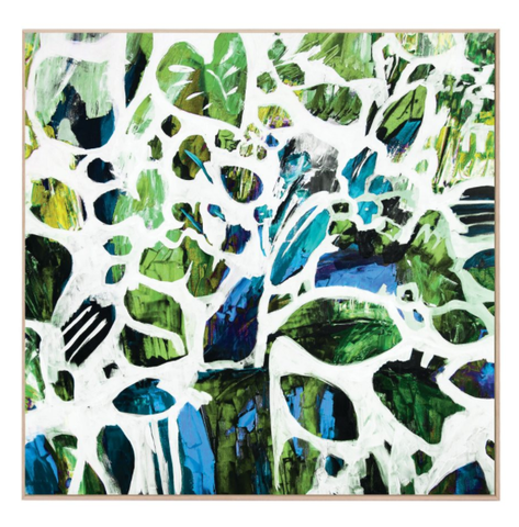 Green Tangle Canvas