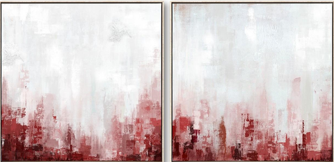 Abstract Sunrise Set of 2 Canvas